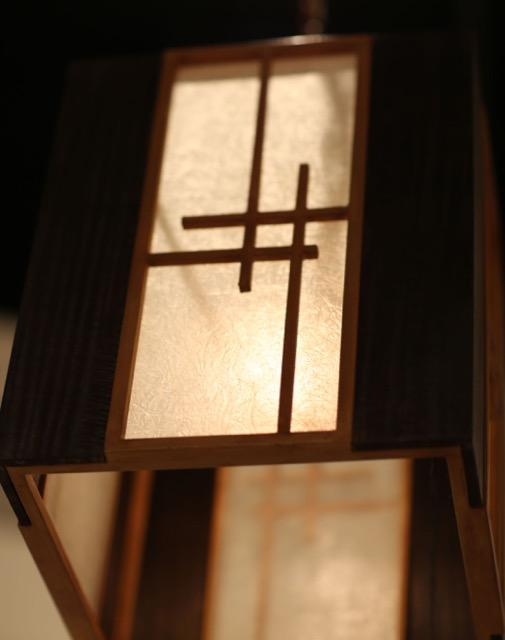 Kiyamacki lantern at High Point Market, the lush light accentuating the minimalism of the design