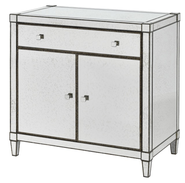 The Monarch three-drawer chest by Currey and Company