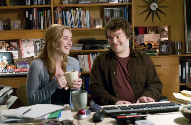 Kate Winslet and Jack Black, an unlikely romance in The Holiday