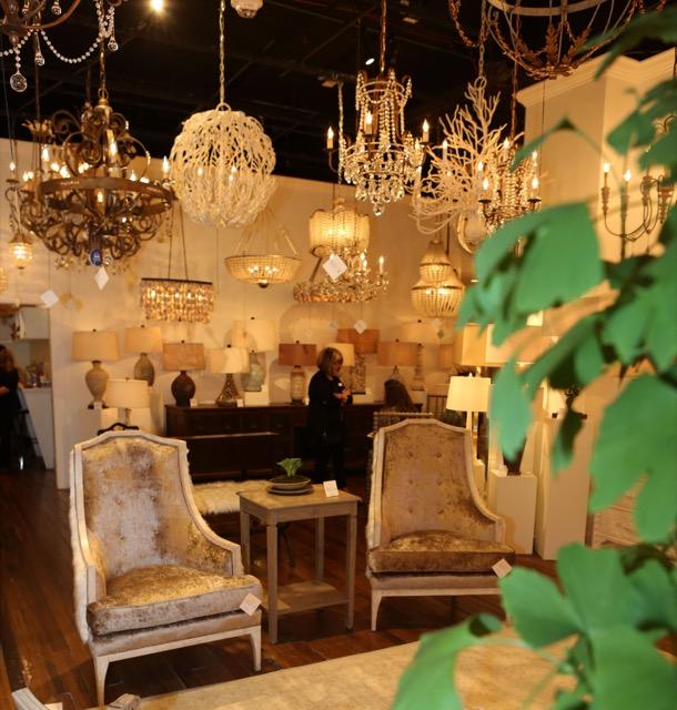 Bonsai greens Currey and Company showroom