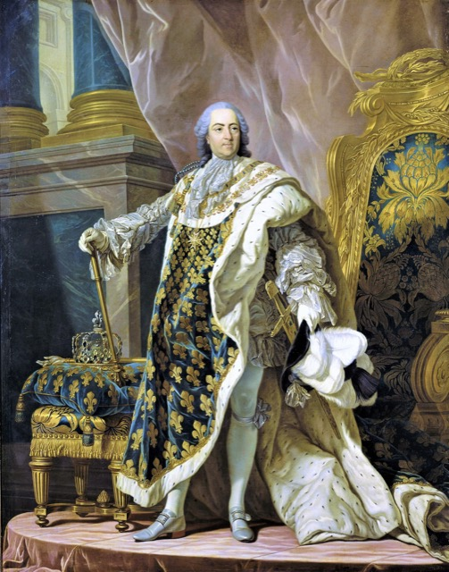 Portrait of Louis XV resplendent in gold and blue