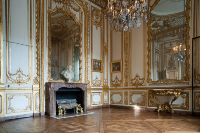 The Petite Apartments of Louis XV awash in gold.