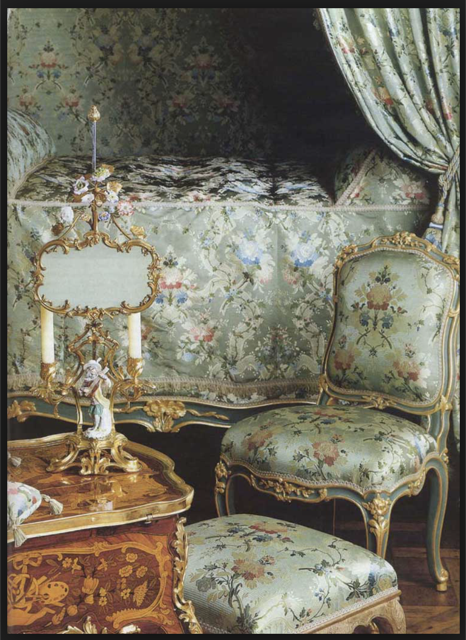 Sumptuous apartments of Madame de Pompadour