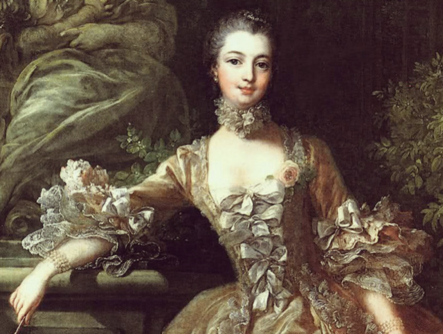 A portrait of Madame de Pompadour.