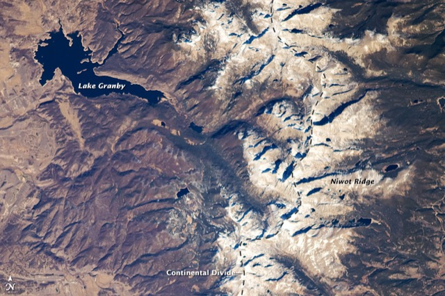 continental divide from space
