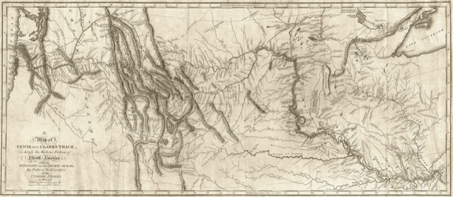 The map that Lewis and Clark drew of the Expedition