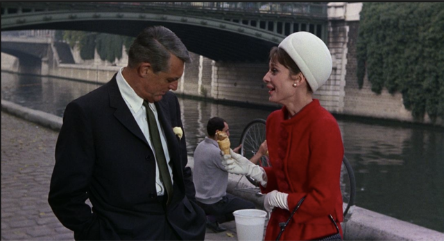 Audrey Hepburn and Cary Grant in Charade.