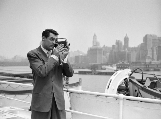 Cary Grant filming