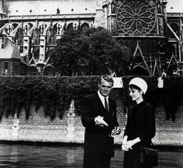 Grant and Hepburn at Notre Dame