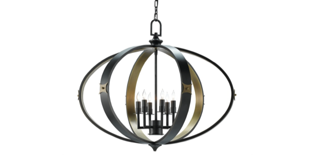 Huntsman chandelier by Currey & Company