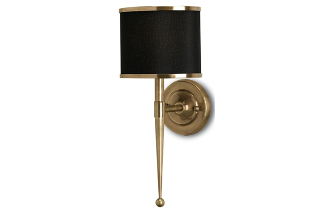 Primo Brass wall sconce is Currey in a Hurry