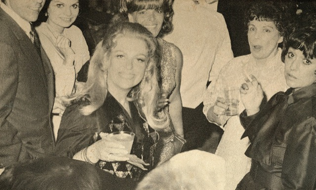 Phyllis Morris at a 70s party