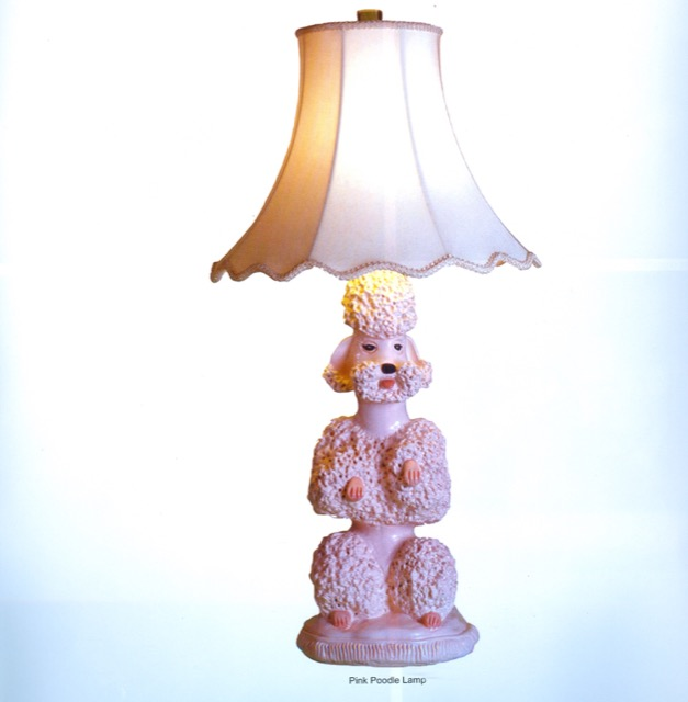 The original Pink Poodle Lamp Phyllis Morris, one of her legacies