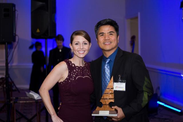 Aimee Kurzner and Clarence Mallari win a Pinnacle Award for Huntsman Collection