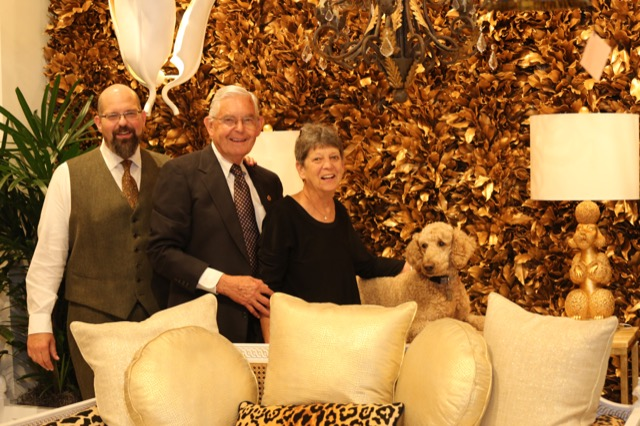 Robert and Suzanne Currey and Poodle Rives