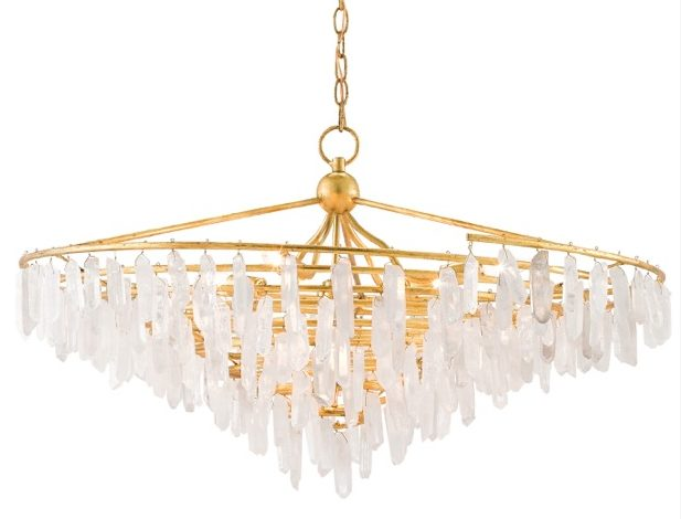 Tempest chandelier with an icicle pattern