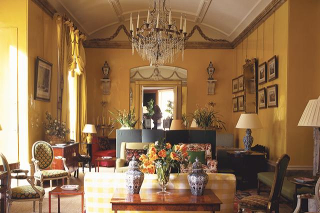 Nancy Lancaster's Yellow Room in London.
