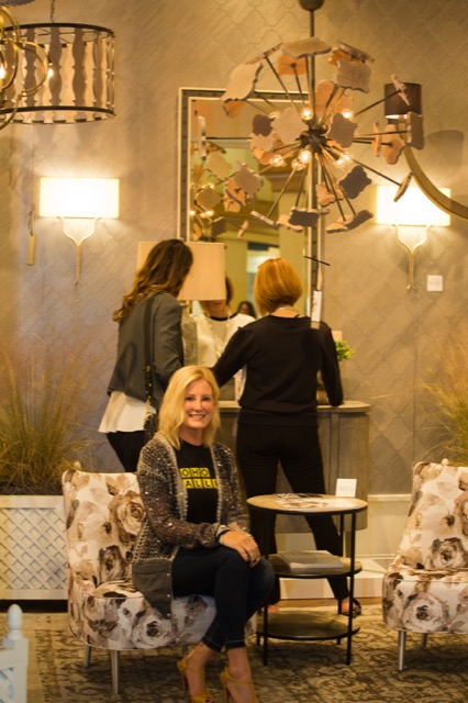 Jamie Beckwith at CurreyCo for High Point Market
