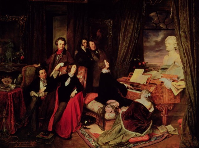 Liszt at the Piano Painting