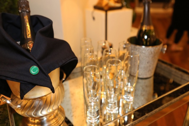 Champagne at Currey & Company Showroom