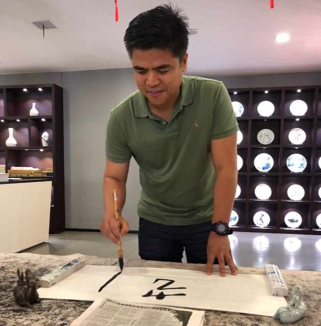 Clarence Mallari does Calligraphy