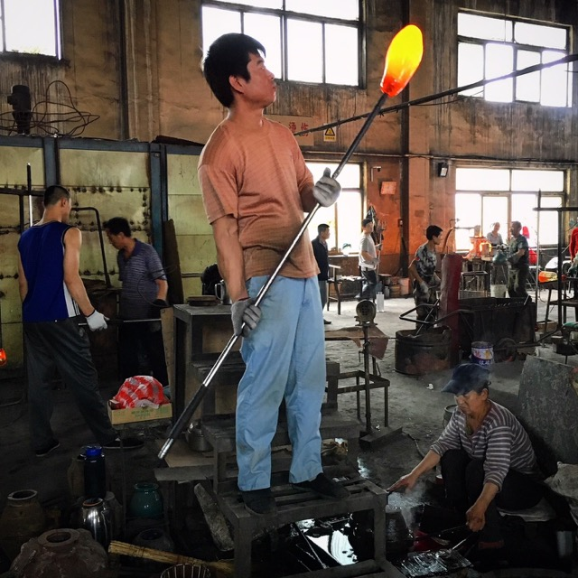 Glassblower in China, a Currey source