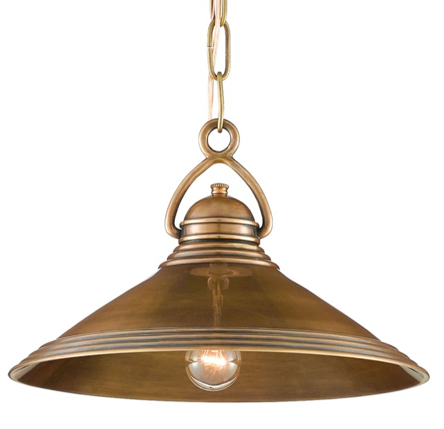 Weybright pendant with industrial chic references.