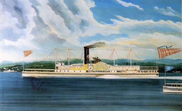 C. Vanderbilt, a Hudson River steamer owned by Cornelius Vanderbilt
