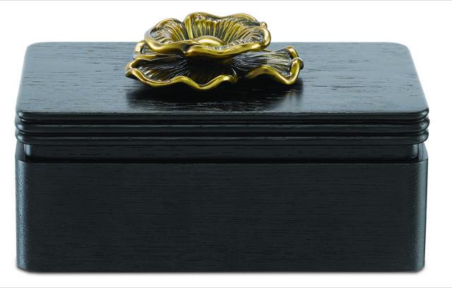 Currey & Company Briallen Caviar Black Box