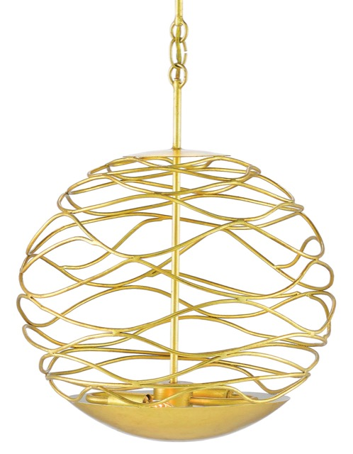 Currey & Company Chaumont Small Orb Chandelier