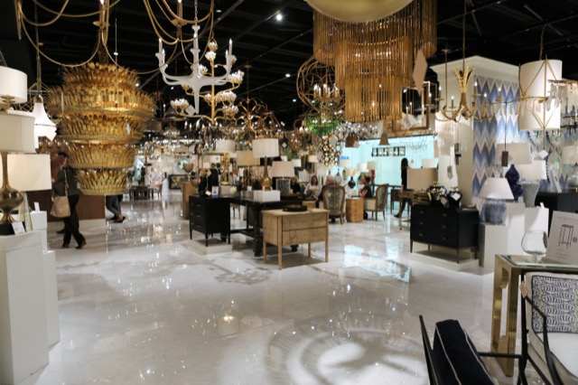 The expanded Currey & Company showroom in Dallas
