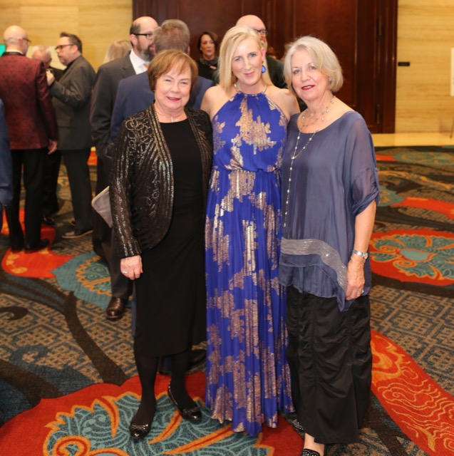 Betty Robbins, at left, enjoys the ARTS Awards celebration with Kerri Shay (center) and Margarethe Martin (right)