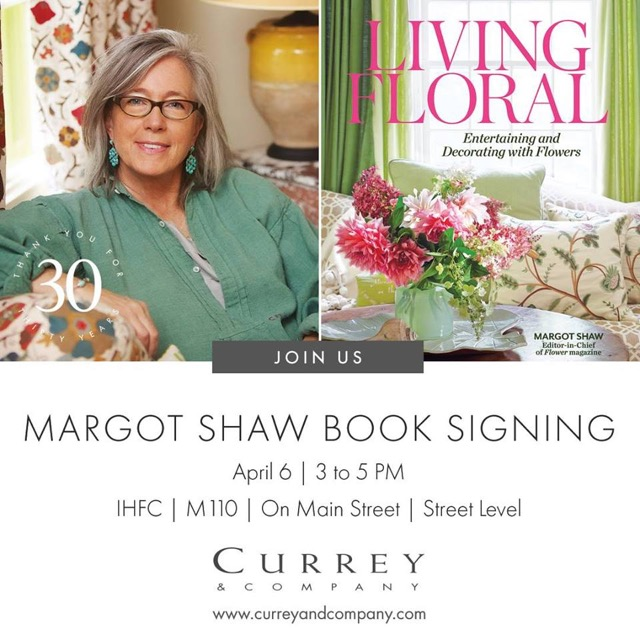 Margot Shaw signs her book Living Floral that is filled with natural beauty and entertaining tips