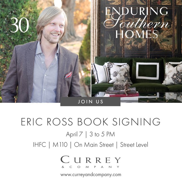 Eric Ross will sign Enduring Southern Homes at Currey & Company during High Point Market