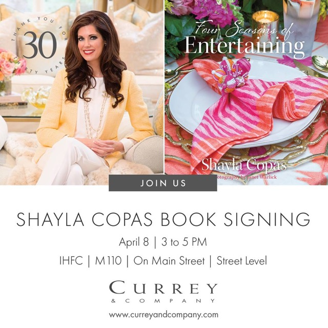 Meet award-winning designer and author Shayla Copas at Currey & Company whose book is filled with natural beauty