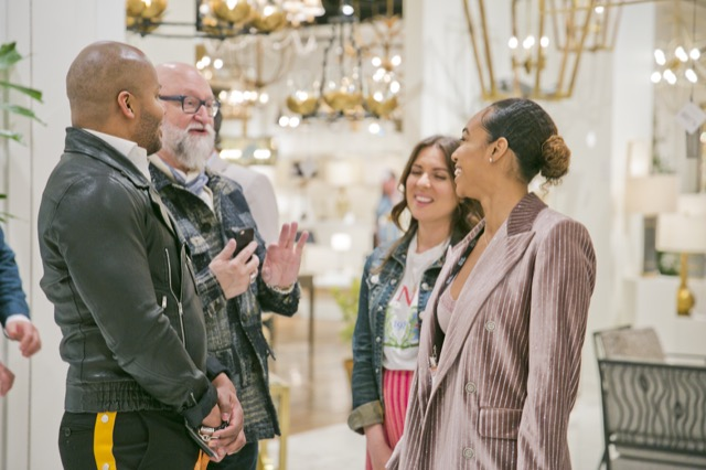 VP of Creative, Cecil Adams, giving showroom tours during Spring Market.