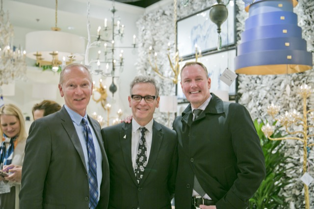 Barry Goralnick, one of our collaborating designers, flanked by Keith Gordon and Barry Darr Dixon.