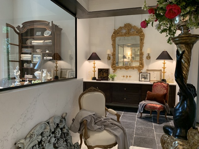 Our Wortham Table Lamps in this beautiful setting Stefan Alexander created in the Southeastern Design Showhouse & Gardens.