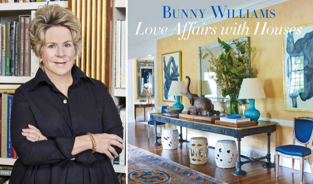 Bunny Williams will sign books in the Currey & Company showroom in NYC