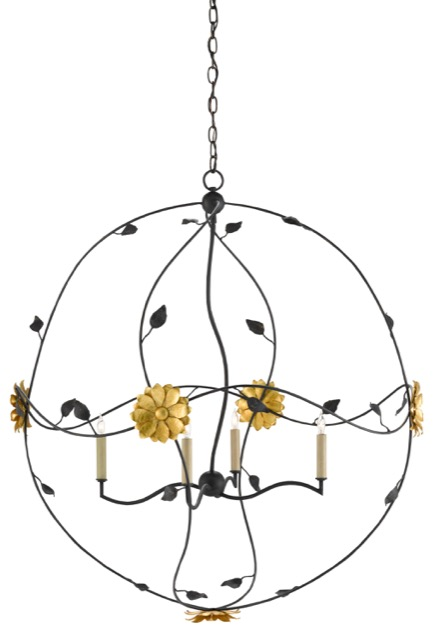 The Oona Orb chandelier is a design by Clarence Mallari