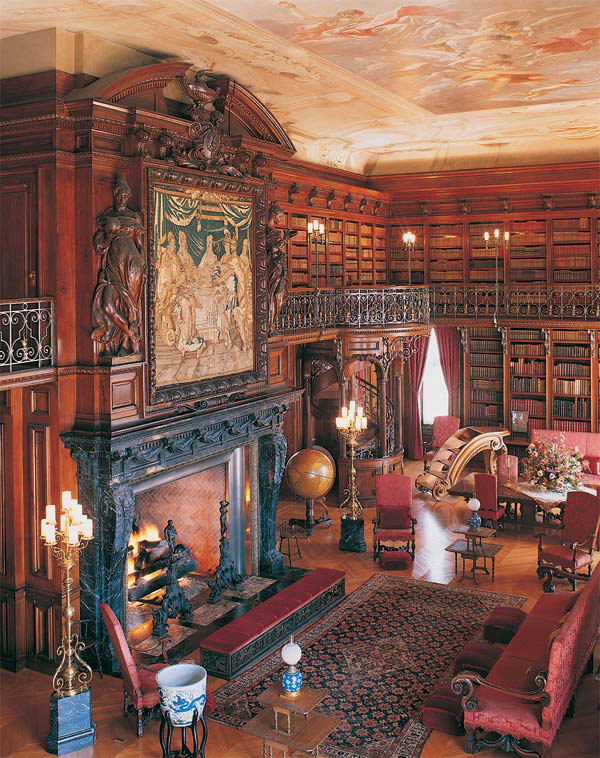 the library at the Biltmore in Asheville