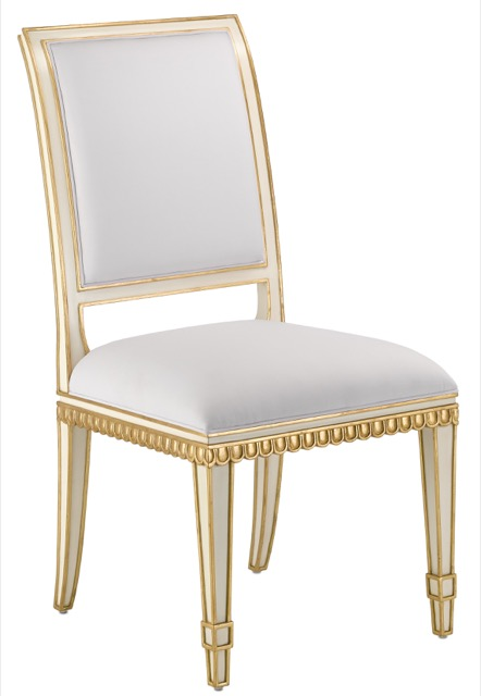 The Currey & Company Ines Chair with its Gustavian influences