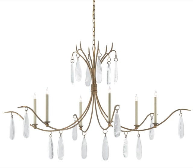 Marshallia Chandelier by Currey & Company.