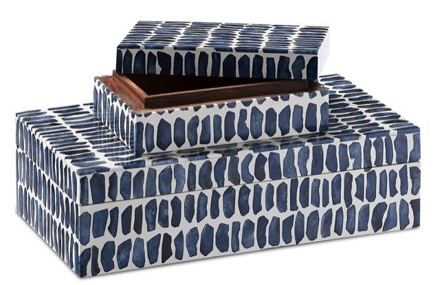 Indigo Box Set by Currey & Company.