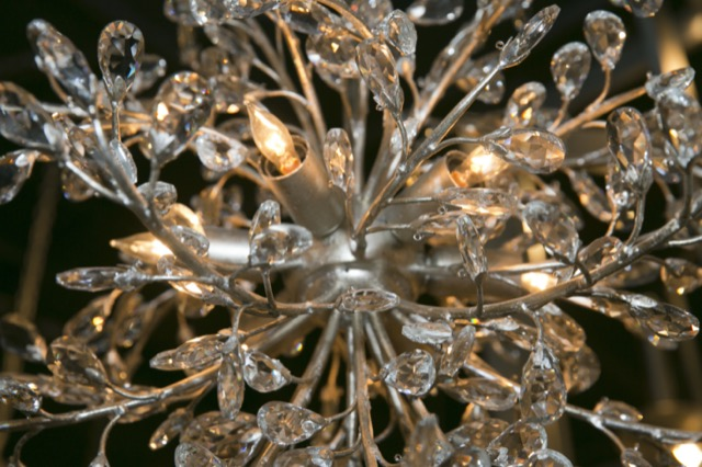 A beauty shot of one of Currey & Company's luminous chandeliers.