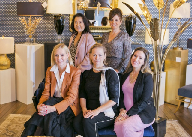 The Art & Function West Coast Sales team at Currey & Company's High Point flagship showroom