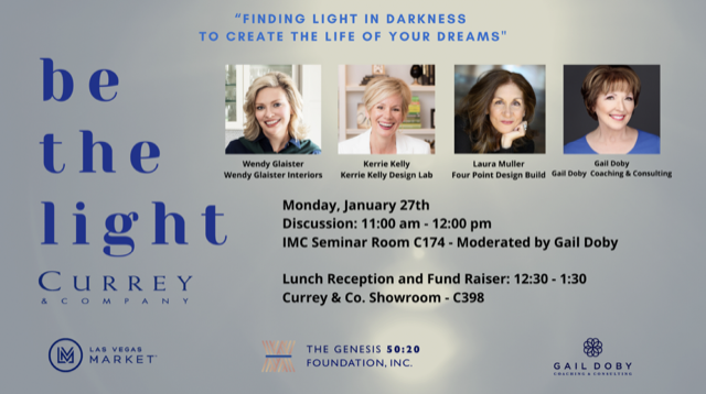 Currey & Company Sponsors Be the Light during Las Vegas Market