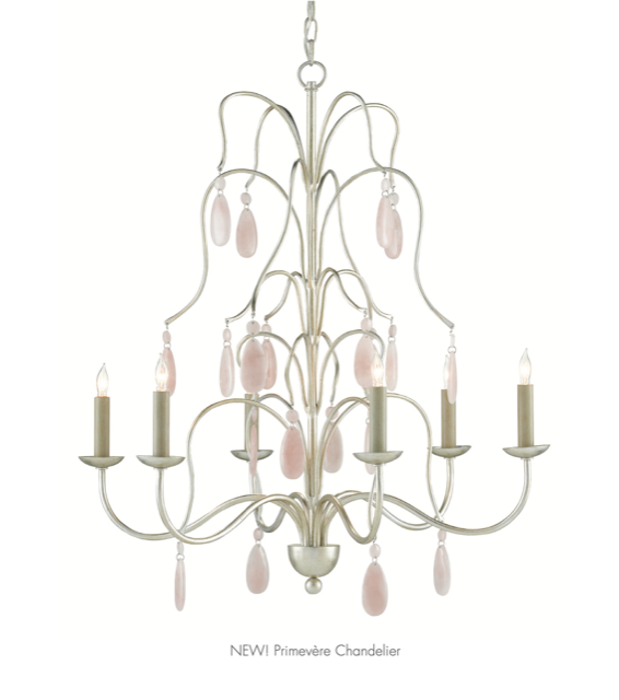 The Currey and Company Premivère Chandelier with its sweeping arms is one of our newest releases.