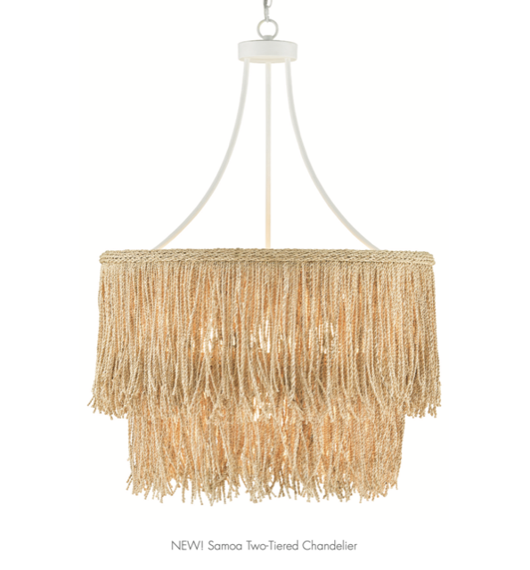 The Currey & Company Samoa Two-Tiered Chandelier is a recent addition to our line-up.