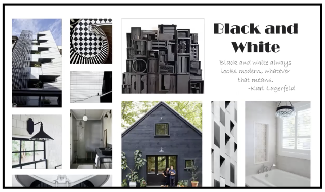 Black and white is a trend for 2020 says Currey & Company.